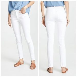 """Madewell 9"""" High Rise Skinny Jeans in White 29"""